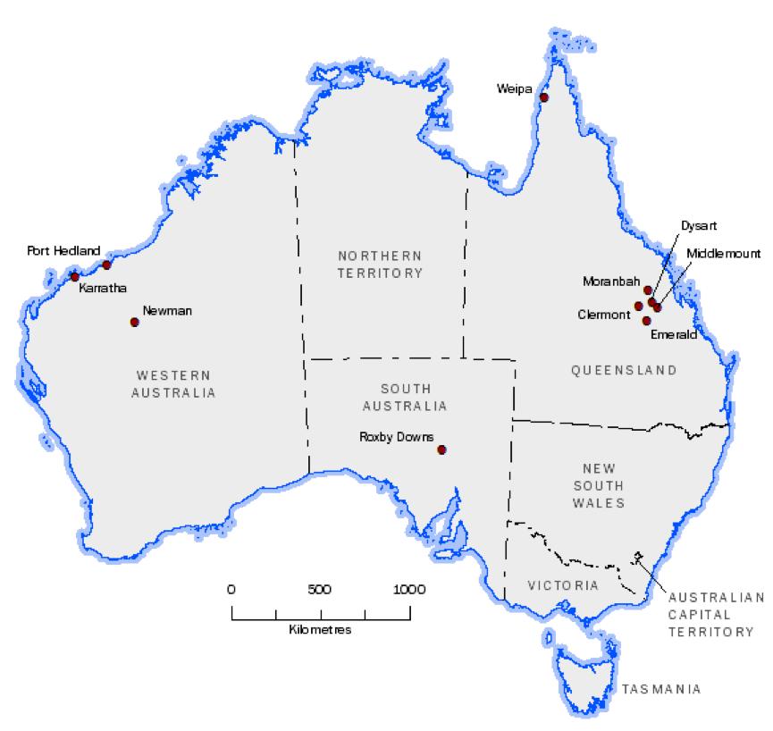 Perth Karratha Map